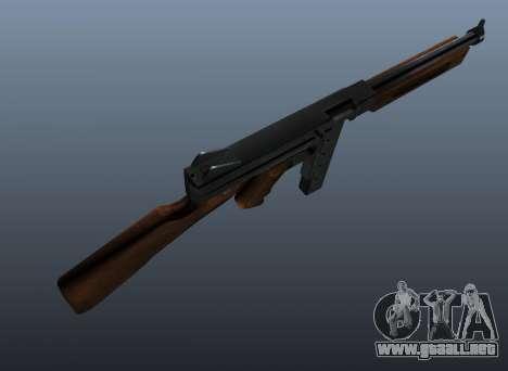 M1a1 Thompson subfusil ametrallador v2 para GTA 4 tercera pantalla
