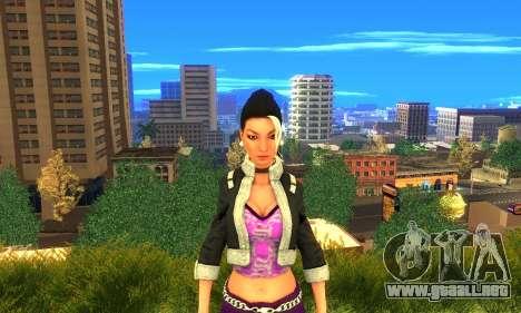 Shaundi From Saints Row Third para GTA San Andreas tercera pantalla