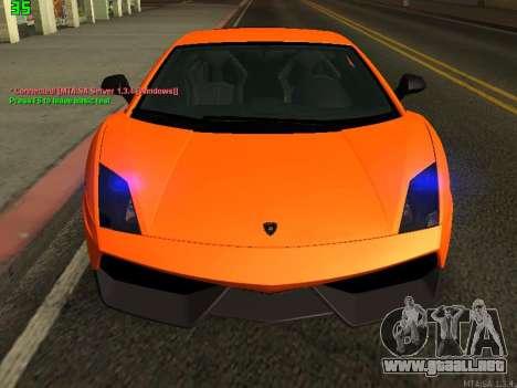Lamborghini Gallardo LP560-4 SL UGR Altecho para GTA San Andreas left