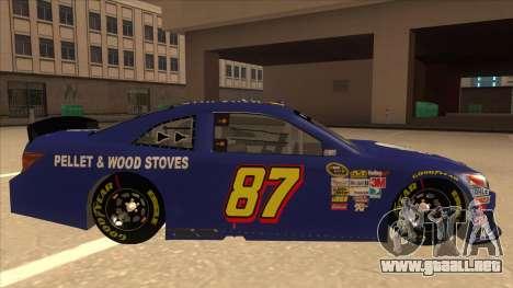 Toyota Camry NASCAR No. 87 AM FM Energy para GTA San Andreas vista posterior izquierda