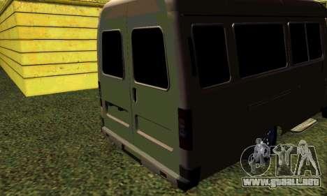 Gacela Tuning para GTA San Andreas vista posterior izquierda