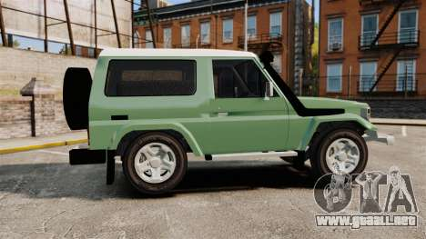 Toyota Land Cruiser 76 2005 para GTA 4 left