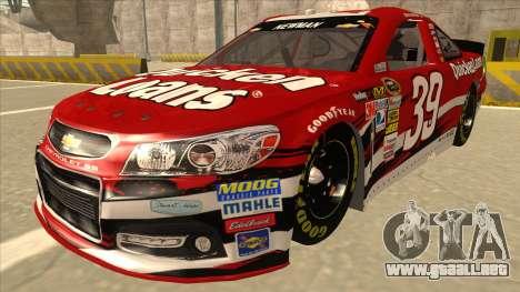 Chevrolet SS NASCAR No. 39 Quicken Loans para GTA San Andreas