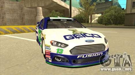 Ford Fusion NASCAR No. 13 GEICO para GTA San Andreas left