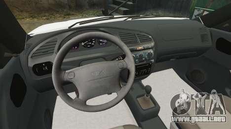 Daewoo Lanos 1997 Cabriolet Concept para GTA 4 vista interior