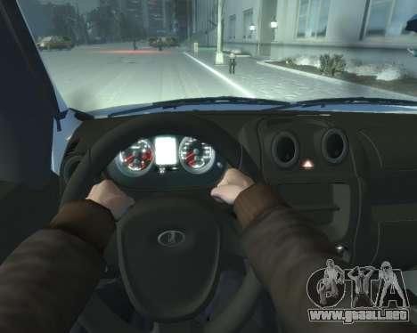 Lada Granta Hatch - VAZ 2191 para GTA 4 vista hacia atrás