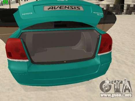 Toyota Avensis 2.0 16v VVT-i D4 Executive para visión interna GTA San Andreas