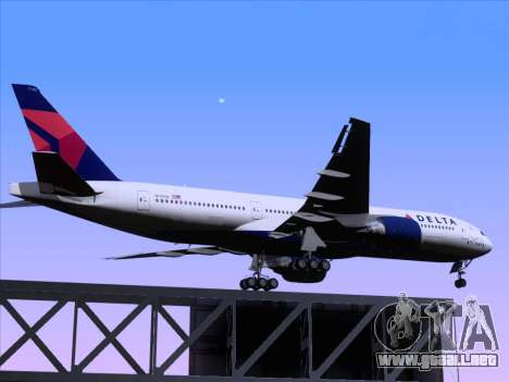 Boeing 777-200ER Delta Air Lines para la vista superior GTA San Andreas