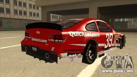 Chevrolet SS NASCAR No. 39 Quicken Loans para la visión correcta GTA San Andreas