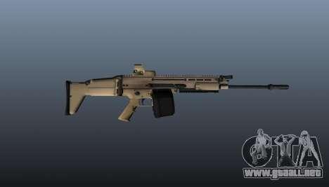 FN SCAR-H ametralladora LMG para GTA 4 tercera pantalla