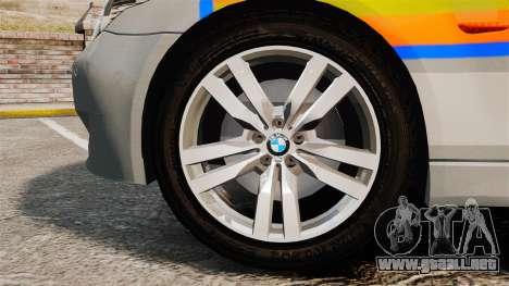 BMW M5 E60 Metropolitan Police 2006 ARV [ELS] para GTA 4 vista hacia atrás