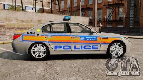 BMW M5 E60 Metropolitan Police 2006 ARV [ELS] para GTA 4 left