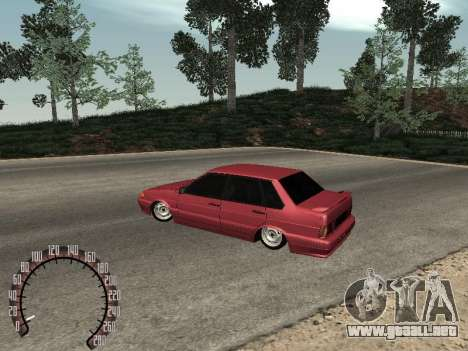 BPAN VAZ 2115 para la visión correcta GTA San Andreas