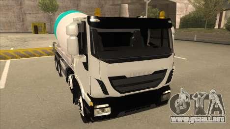 Hola-Land hormigonera camión Iveco para GTA San Andreas left