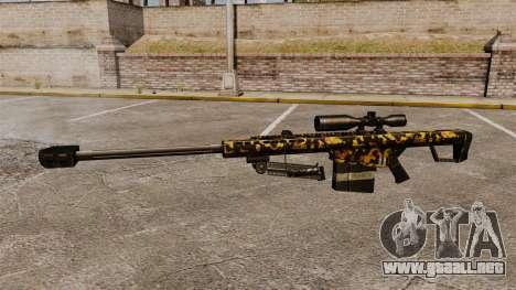 El francotirador Barrett M82 rifle v11 para GTA 4 tercera pantalla
