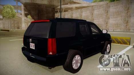Cadillac Escalade 2011 Unmarked FBI para la visión correcta GTA San Andreas