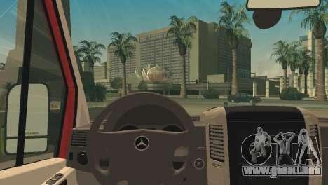 Mercedes-Benz Sprinter para GTA San Andreas vista posterior izquierda