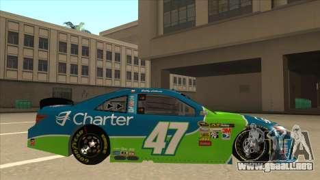 Toyota Camry NASCAR No. 47 Charter para GTA San Andreas vista posterior izquierda