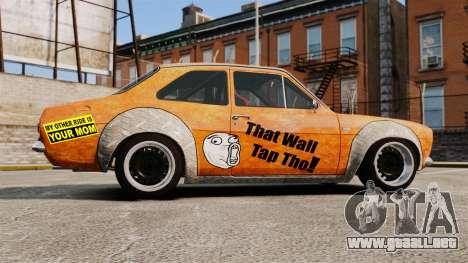 Ford Escort Mk1 Rust Rod para GTA 4 left