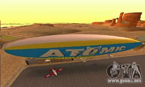 Zepellin GTA V para GTA San Andreas vista posterior izquierda