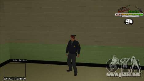 Pak SAPD pieles para GTA San Andreas tercera pantalla