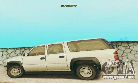Chevrolet Suburban SAPD FBI para visión interna GTA San Andreas
