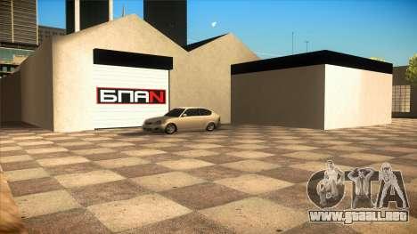 El garaje en Doherty BPAN v1.1 para GTA San Andreas tercera pantalla