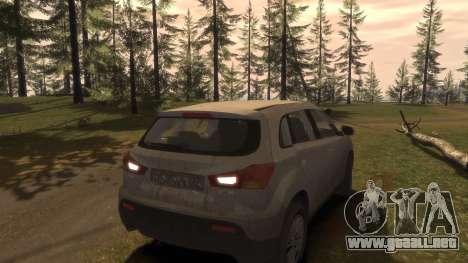 Mitsubishi ASX 2010 para GTA 4 vista desde abajo