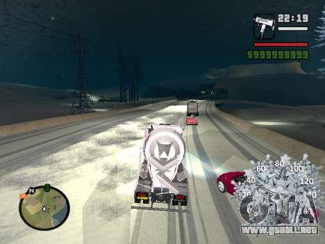 Nuevo velocímetro para GTA San Andreas sexta pantalla