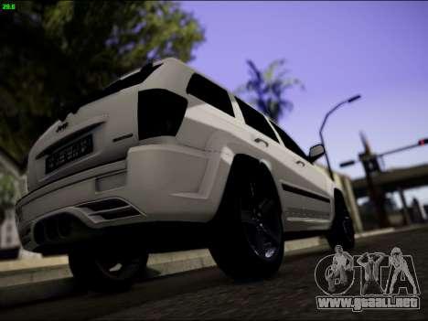 Jeep Grand Cherokee SRT8 para la visión correcta GTA San Andreas