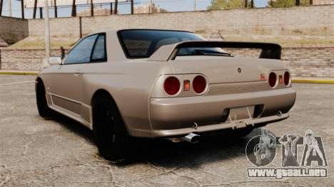 Nissan Skyline GT-R (R32) para GTA 4 Vista posterior izquierda