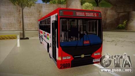 Busscar Urbanus SS Volvo B10 M Busmania para GTA San Andreas left