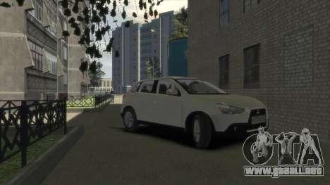 Mitsubishi ASX 2010 para GTA 4 visión correcta