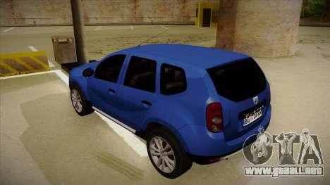Dacia Duster SUV 4x4 para GTA San Andreas vista hacia atrás
