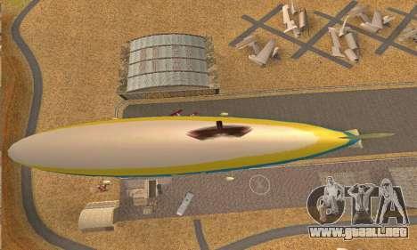 Zepellin GTA V para GTA San Andreas vista hacia atrás