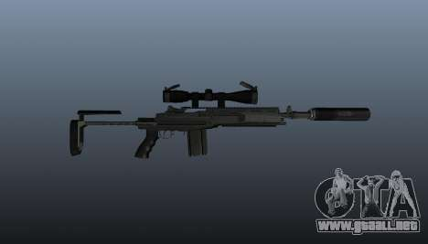 Fusil automático M14 EBR v1 para GTA 4 tercera pantalla