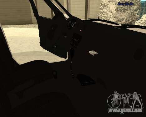 Lada Granta 2190 policía v 2.0 para la vista superior GTA San Andreas