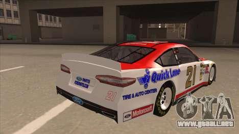 Ford Fusion NASCAR No. 21 Motorcraft Quick Lane para la visión correcta GTA San Andreas