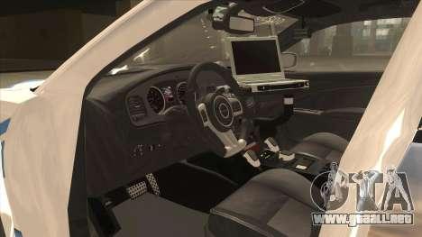 Dodge Charger Detroit Police 2013 para visión interna GTA San Andreas