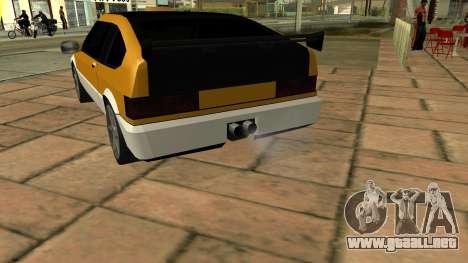 New Blista Compact para GTA San Andreas vista posterior izquierda