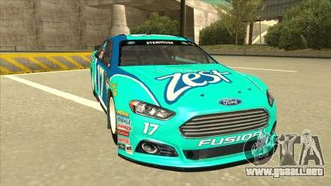 Ford Fusion NASCAR No. 17 Zest Nationwide para GTA San Andreas left