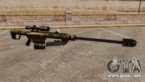 El francotirador Barrett M82 rifle v13 para GTA 4