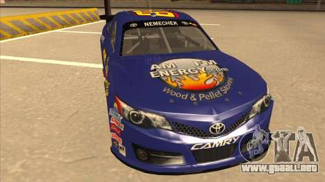 Toyota Camry NASCAR No. 87 AM FM Energy para GTA San Andreas left