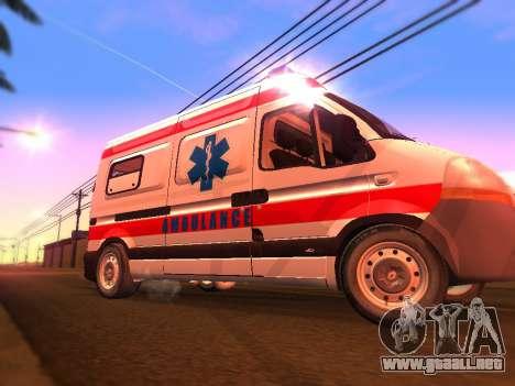 Renault Master ambulancia Serbio para GTA San Andreas vista hacia atrás