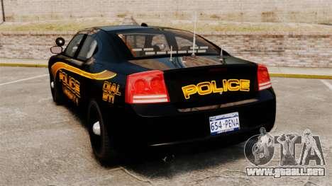 Dodge Charger 2008 LCPD Slicktop [ELS] para GTA 4 Vista posterior izquierda