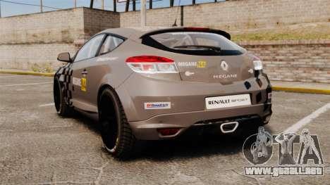 Renault Megane RS N4 para GTA 4 Vista posterior izquierda