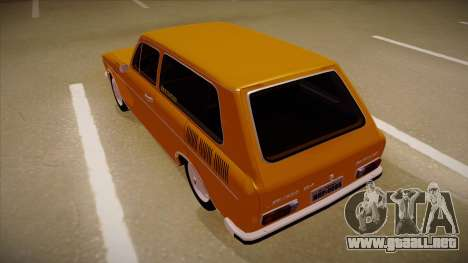 VW Variant 1972 para GTA San Andreas vista hacia atrás