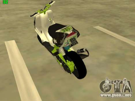 Yamaha Aerox para GTA San Andreas left