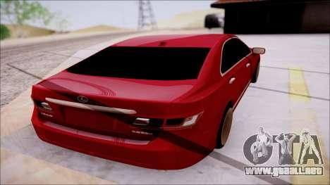 Lexus ES350 2010 para la visión correcta GTA San Andreas