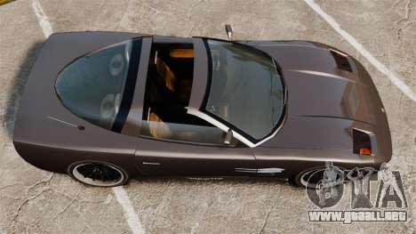 Coquette Targa para GTA 4 Vista posterior izquierda